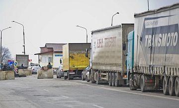 Сумасшедшие очереди в Крым на Чонгаре