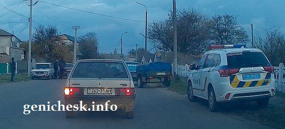 Авария на дорогах Геническа в ноября 2017