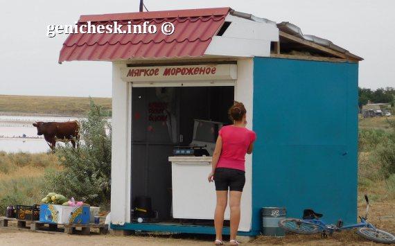 Торговый центр обслуживания отдыхающих в с.Приозерное у розового озера