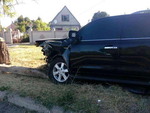 Лето 2017 на дорогах Геническа - первая авто-авария