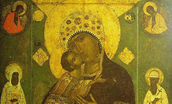 Фрагмент Волоколамской иконы 16 века - 1572 года