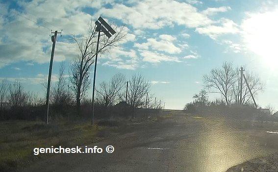 Освещение улиц солнечными панелями в с.Вознесенка Новотроицкого района