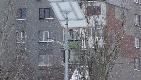 Городские фонари освещения в Дружковке на солнечных батареях
