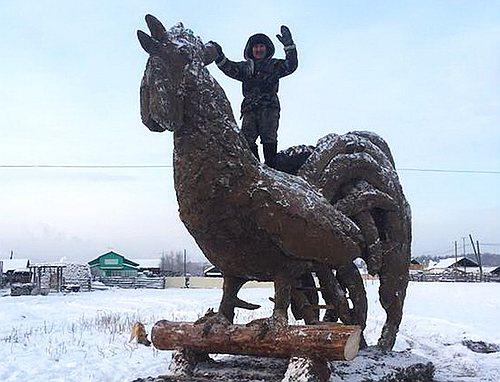 Проект памятника для Геническа от геничан живущих за кордоном справа. Отличительная особенность - бюджетный и экологически чистый материал