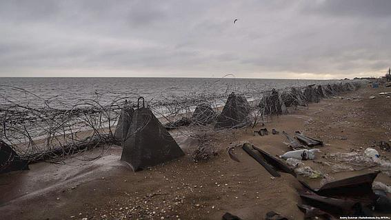 Пляжи Азовского моря в с.Широкино