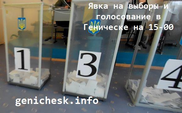 Ход выборов Президента Украины в Геническе на избирательных участках по состоянию на 15-00